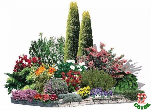Дизайн посадки цветов на даче